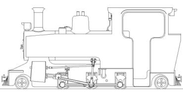 Side elevation of 2-6-2T 'Lydia'